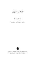 Aziyadé by Pierre Loti