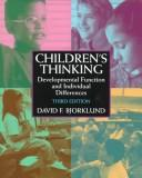 Children's thinking by David F. Bjorklund