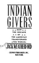 Indian givers by J. McIver Weatherford