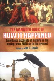 The Mammoth Book of How It Happened PDF
