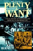 Plenty and want by Burnett, John