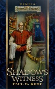 Cover of: Shadow's Witness by Paul S. Kemp