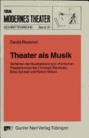 Theater als Musik by David Roesner