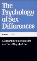 The psychology of sex differences by Eleanor E. Maccoby