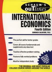 Schaum's outline of theory and problems of international economics PDF