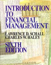 Introduction to financial management by Lawrence D. Schall