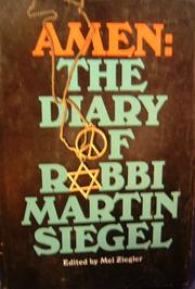 Cover of: Amen: The Diary of Rabbi Martin Siegel by Martin Siegel