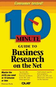 10 minute guide to business research on the Net PDF
