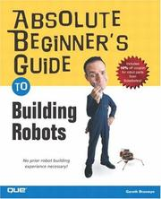 Absolute Beginner's Guide to Building Robots PDF