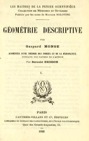 Gomtrie descriptive by Gaspard Monge