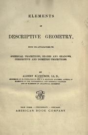 Elements of descriptive geometry by Church, Albert E.