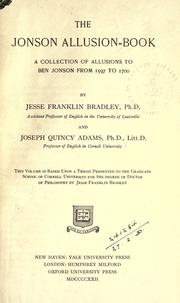 The Jonson allusion-book by Jesse Franklin Bradley