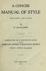 A concise manual of style PDF