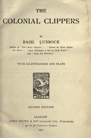 The colonial clippers by Basil Lubbock