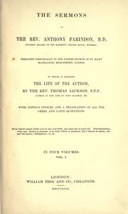 Cover of: The sermons of the Rev. Anthony Farindon by Anthony Farindon