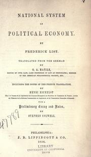 Nationale System der politischen Oekonomie PDF