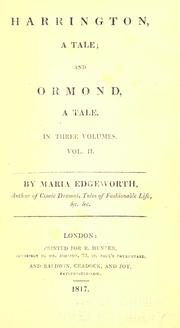 Cover of: Harrington by Maria Edgeworth