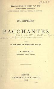 Cover of: Bacchantes by Euripides