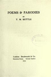 Poems & parodies by Tom Kettle