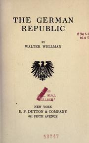 The German republic PDF