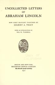 Cover of: Uncollected letters of Abraham Lincoln by Abraham Lincoln