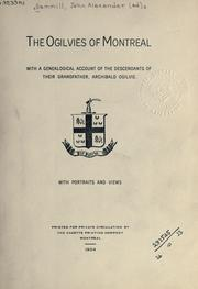 Cover of: The Ogilvies of Montreal