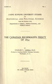 The Canadian reciprocity treaty of 1854 by Tansill, Charles Callan