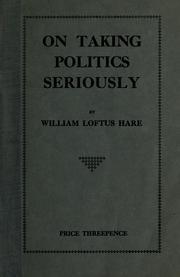 On taking politics seriously PDF