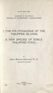 The Polypodiaceae of the Philippine Islands by Edwin Bingham Copeland