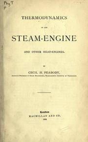 Thermodynamics of the steam-engine and other heat-engines PDF
