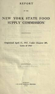 Report of the New York State Food Supply Commission PDF