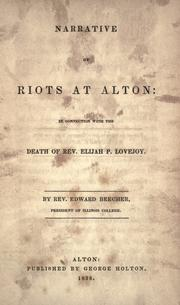 Narrative of riots at Alton by Beecher, Edward