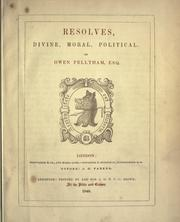 Resolves by Owen Feltham