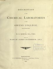 Description of the chemical laboratories at the Owens college, Manchester by Henry E. Roscoe