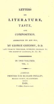 Letters on literature, taste, and composition by G. Gregory
