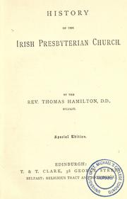 History of the Irish Presbyterian Church by Thomas Hamilton