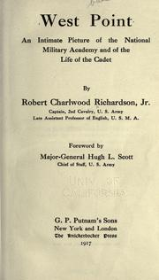 Cover of: West Point by Robert Charlwood Richardson