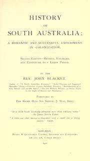 History of South Australia by John Blacket