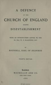 A defence of the Church of England against disestablishment by Roundell Palmer