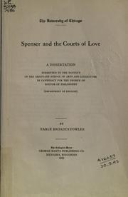 Spenser And The Courts Of Love by Earle Broadus Fowler