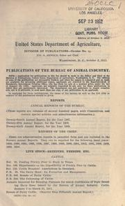 Publications of the Bureau of animal industry PDF