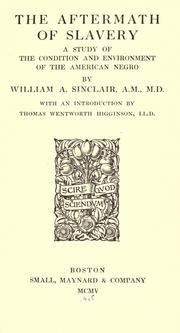 The aftermath of slavery by William A. Sinclair