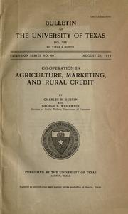 Co-operation in agriculture, marketing, and rural credit PDF