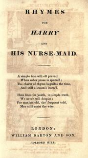 Rhymes for Harry and his nurse-maid by Maria Arthington
