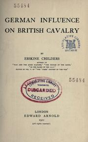 German influence on British cavalry by Erskine Childers