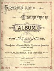 Cover of: Portrait and biographical album of DeKalb County, Illinois by
