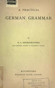 A pratical German grammar PDF