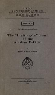 The &quot;Inviting-in&quot; feast of the Alaskan Eskimo by Ernest William Hawkes