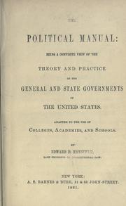 The political manual by Edward Deering Mansfield