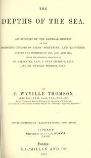 The depths of the sea by Thomson, C. Wyville Sir